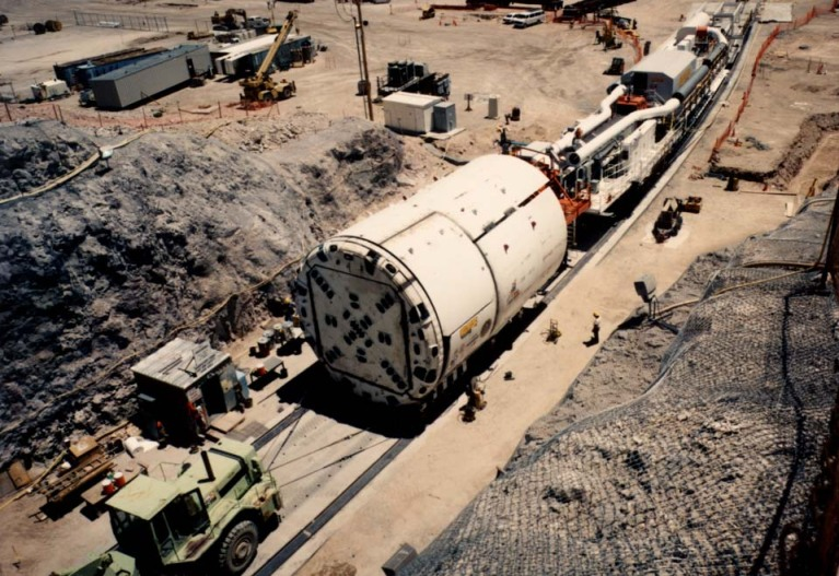 Coring machine used to dig gov\'t underground tunnels
